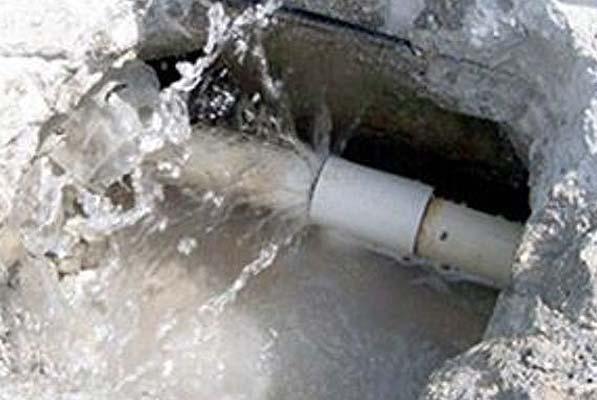 Repairing underground pool pipe leaks - breaking concrete